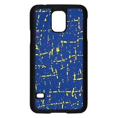 Deep blue and yellow pattern Samsung Galaxy S5 Case (Black)