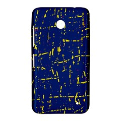 Deep blue and yellow pattern Nokia Lumia 630