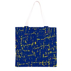 Deep blue and yellow pattern Grocery Light Tote Bag