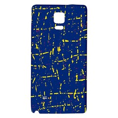 Deep blue and yellow pattern Galaxy Note 4 Back Case