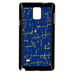 Deep blue and yellow pattern Samsung Galaxy Note 4 Case (Black)