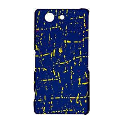 Deep blue and yellow pattern Sony Xperia Z3 Compact