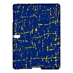 Deep blue and yellow pattern Samsung Galaxy Tab S (10.5 ) Hardshell Case