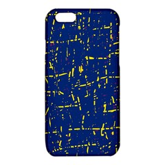 Deep blue and yellow pattern iPhone 6/6S TPU Case