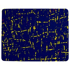 Deep Blue And Yellow Pattern Jigsaw Puzzle Photo Stand (rectangular)