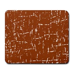Brown elelgant pattern Large Mousepads