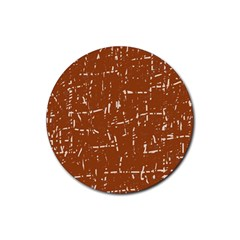 Brown elelgant pattern Rubber Round Coaster (4 pack)