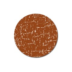 Brown elelgant pattern Magnet 3  (Round)