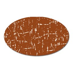 Brown elelgant pattern Oval Magnet