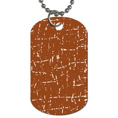 Brown elelgant pattern Dog Tag (One Side)