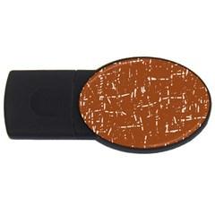 Brown elelgant pattern USB Flash Drive Oval (2 GB)