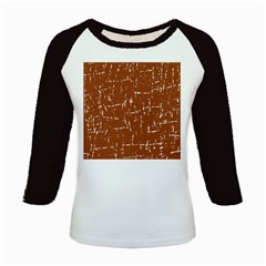 Brown elelgant pattern Kids Baseball Jerseys