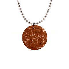 Brown elelgant pattern Button Necklaces