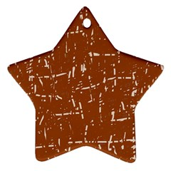 Brown elelgant pattern Star Ornament (Two Sides)