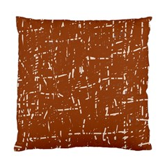 Brown elelgant pattern Standard Cushion Case (Two Sides)
