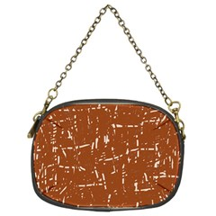 Brown elelgant pattern Chain Purses (Two Sides)