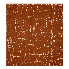 Brown elelgant pattern Shower Curtain 66  x 72  (Large)