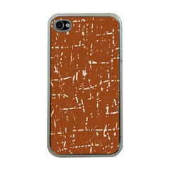 Brown elelgant pattern Apple iPhone 4 Case (Clear)
