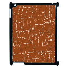 Brown elelgant pattern Apple iPad 2 Case (Black)