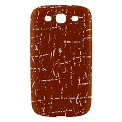 Brown elelgant pattern Samsung Galaxy S III Hardshell Case