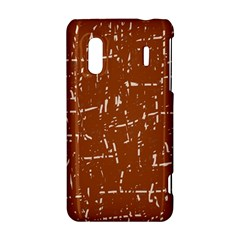 Brown elelgant pattern HTC Evo Design 4G/ Hero S Hardshell Case