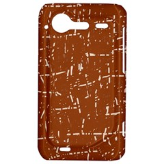Brown elelgant pattern HTC Incredible S Hardshell Case