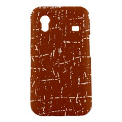 Brown elelgant pattern Samsung Galaxy Ace S5830 Hardshell Case