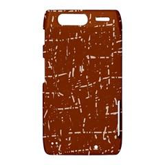 Brown elelgant pattern Motorola Droid Razr XT912