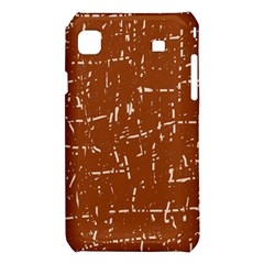 Brown elelgant pattern Samsung Galaxy S i9008 Hardshell Case