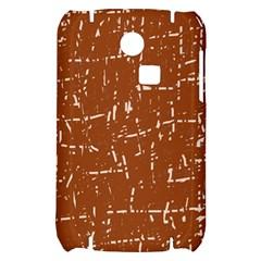 Brown elelgant pattern Samsung S3350 Hardshell Case