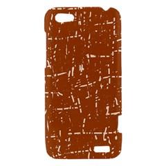 Brown elelgant pattern HTC One V Hardshell Case