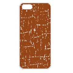 Brown elelgant pattern Apple iPhone 5 Seamless Case (White)