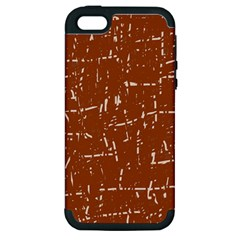 Brown elelgant pattern Apple iPhone 5 Hardshell Case (PC+Silicone)