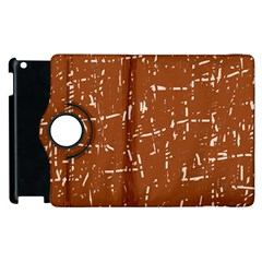 Brown elelgant pattern Apple iPad 2 Flip 360 Case