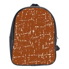 Brown elelgant pattern School Bags (XL)