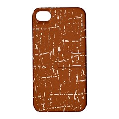 Brown elelgant pattern Apple iPhone 4/4S Hardshell Case with Stand