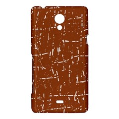 Brown elelgant pattern Sony Xperia T