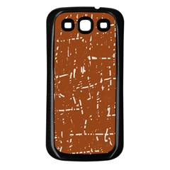 Brown elelgant pattern Samsung Galaxy S3 Back Case (Black)