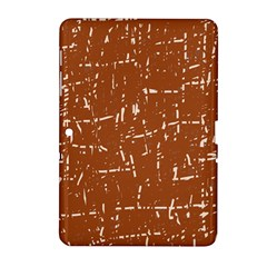 Brown elelgant pattern Samsung Galaxy Tab 2 (10.1 ) P5100 Hardshell Case