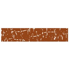 Brown elelgant pattern Flano Scarf (Small)