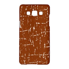 Brown elelgant pattern Samsung Galaxy A5 Hardshell Case
