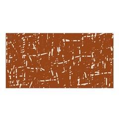 Brown elelgant pattern Satin Shawl