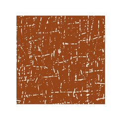 Brown elelgant pattern Small Satin Scarf (Square)