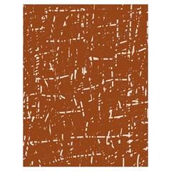 Brown elelgant pattern Drawstring Bag (Large)
