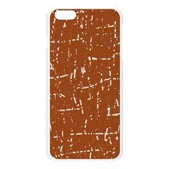 Brown elelgant pattern Apple Seamless iPhone 6 Plus/6S Plus Case (Transparent)