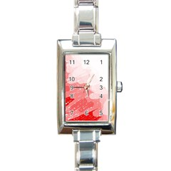 Red pattern Rectangle Italian Charm Watch