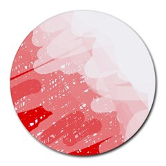 Red pattern Round Mousepads