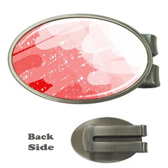 Red pattern Money Clips (Oval)