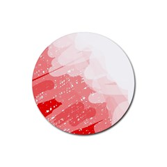 Red pattern Rubber Round Coaster (4 pack)