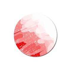 Red pattern Magnet 3  (Round)
